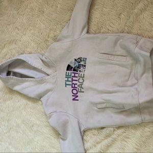 Girl's White North Face Hoodie